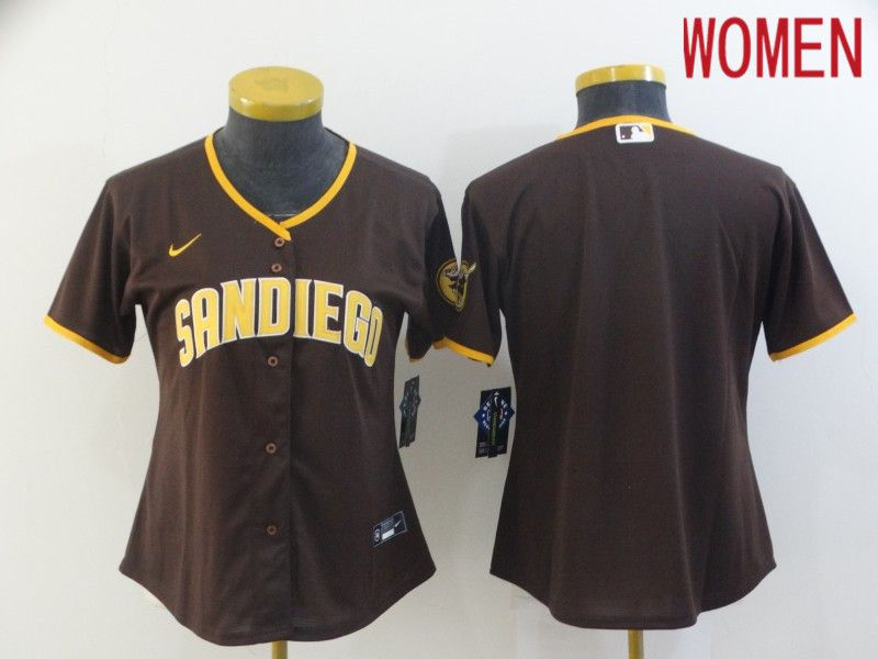 Women San Diego Padres Blank brown Game 2021 Nike MLB Jersey