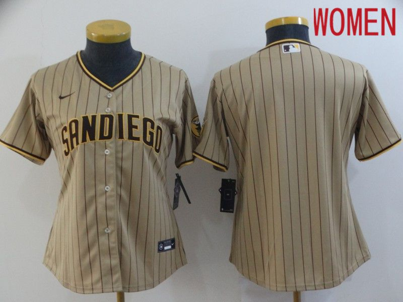Women San Diego Padres Blank brown Game 2021 Nike MLB Jerseys