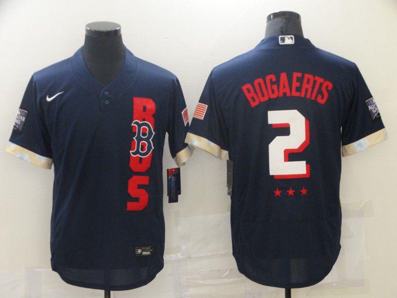 Men Boston Red Sox 2 Bogaerts Blue 2021 All Star Elite Nike MLB Jersey