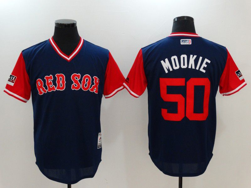Men Boston Red Sox 50 Mookie Blue Game Legend Edition MLB Jersey