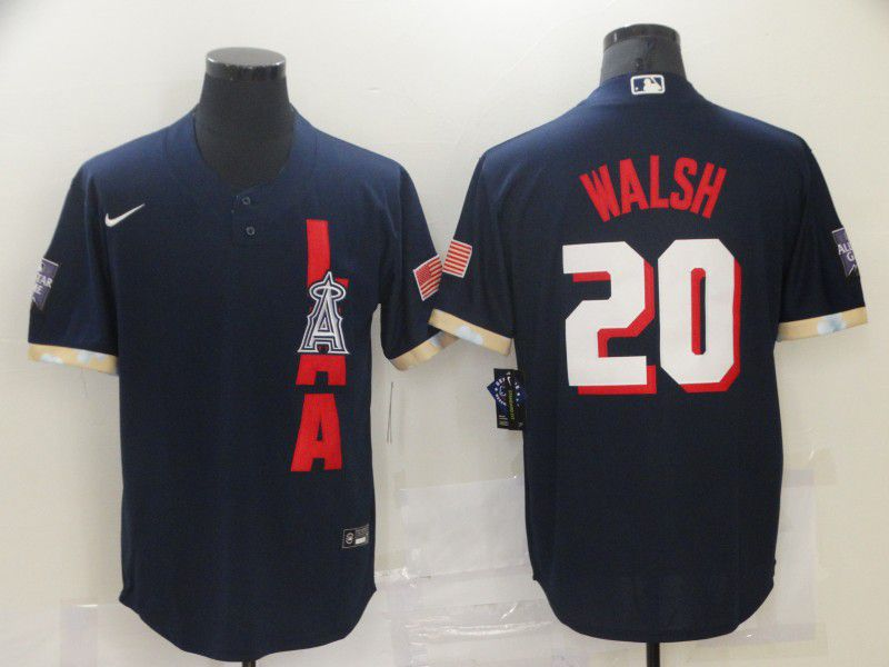 Men Los Angeles Angels 20 Walsh Blue 2021 All Star Game Nike MLB Jersey