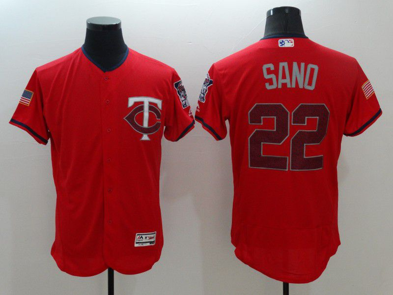 Men Minnesota Twins 22 Sano Red Elite Independent Edition 2021 MLB Jerseys
