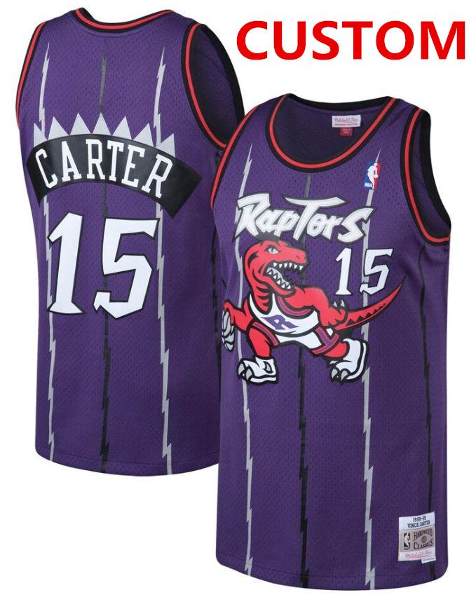 Mitchell and Ness Toronto Raptors Custom Purple Throwback stitched nba jersey