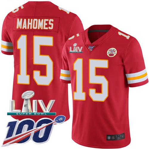 Big Size Nike Chiefs #15 Patrick Mahomes Red Super Bowl LIV 2020 Team Color Men's Stitched NFL 100th Season Vapor Untouchable Limited Jersey