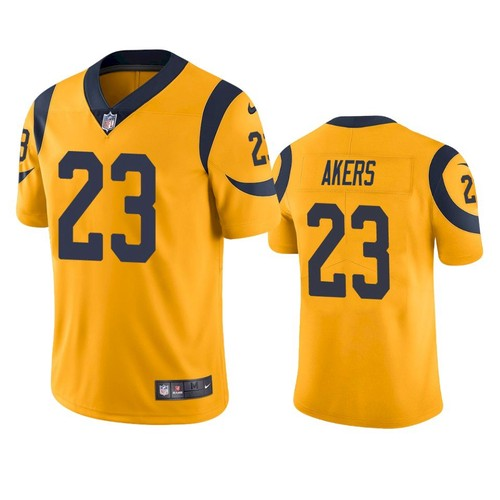 Nike Los Angeles Rams #23 Cam Akers Gold Men's Stitched NFL Limited Rush Jersey