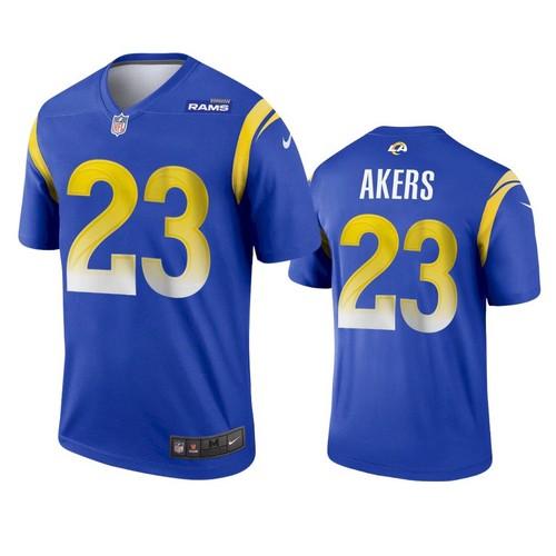 Men's Los Angeles Rams #23 Cam Akers 2020 Blue Vapor Untouchable Limited Stitched Jersey