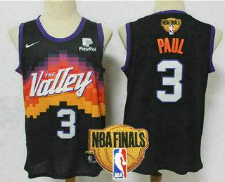 Men's Phoenix Suns #3 Chris Paul Black 2021 Finals Patch City Edition NBA Swingman Jersey