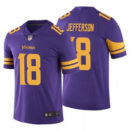 Men's Minnesota Vikings #18 Justin Jefferson 2020 Purple Vapor Untouchable Nike Limited Jersey