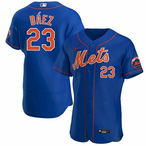 Men's New York Mets #23 Javier Baez Royal Anthentic Nike Jersey