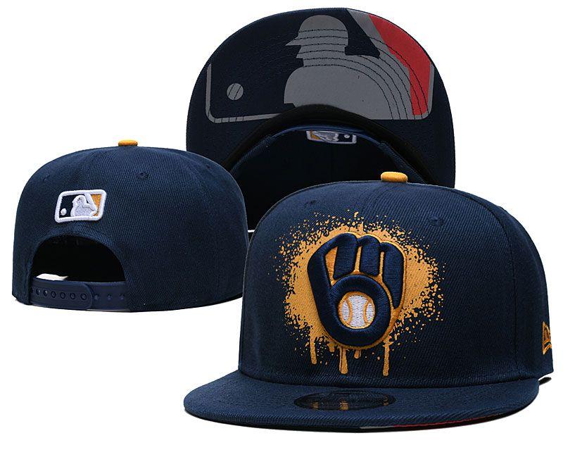 2021 MLB Milwaukee Brewers Hat GSMY 0725