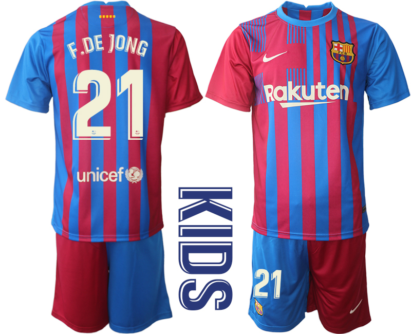 Youth 2021-2022 Club Barcelona home red 21 Nike Soccer Jerseys