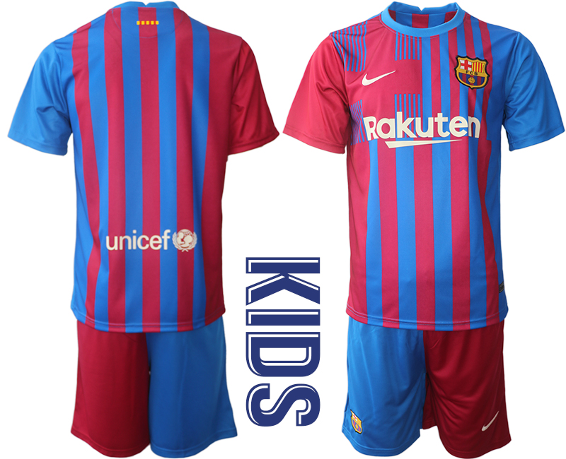 Youth 2021-2022 Club Barcelona home red blank Nike Soccer Jerseys