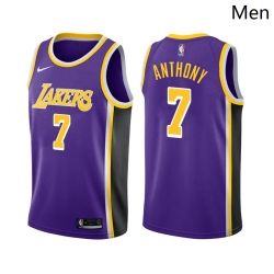 Men Los Angeles Lakers #7 Carmelo Anthony Statement Edition Purple 2021 Stitched NBA Jersey