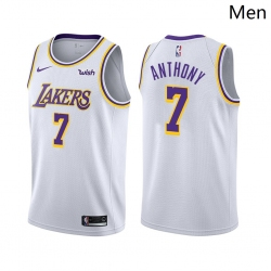 Men Los Angeles Lakers #7 Carmelo Anthony Association Edition White 2021 Stitched NBA Jersey