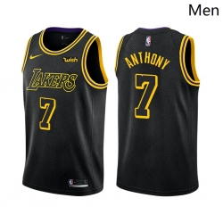 Men Los Angeles Lakers #7 Carmelo Anthony Mamba Inspired Black 2021 Stitched NBA Jersey