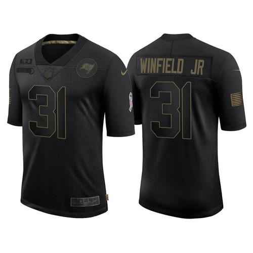 Men's Tampa Bay Buccaneers #31 Antoine Winfield Jr Black 2020 Jersey