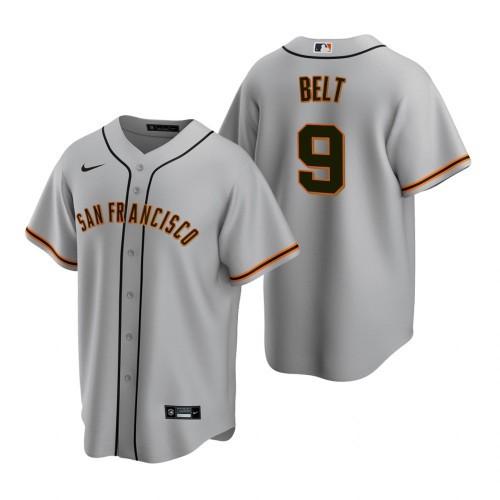 Men's San Francisco Giants #9 Brandon Belt 2020 Baseball Grey Jersey