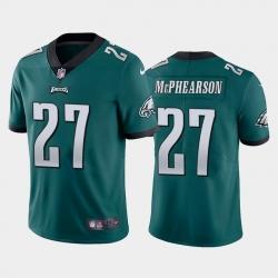 Men Philadelphia Eagles #27 Zech McPhearson Vapor Limited Green Jersey