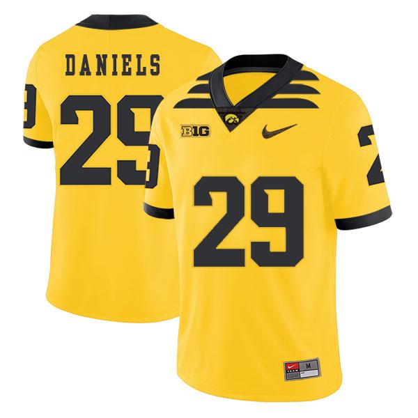 Iowa Hawkeyes 29 LeShun Daniels Yellow College Football Jersey