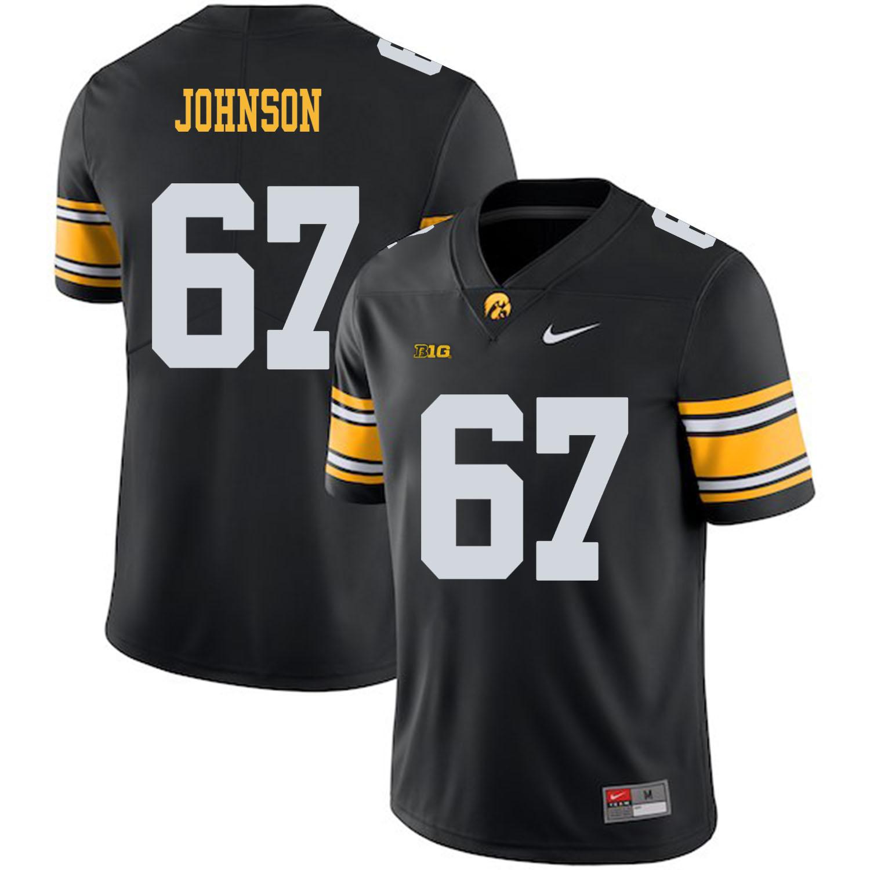 Iowa Hawkeyes 67 Jaleel Johnson Black College Football Jersey