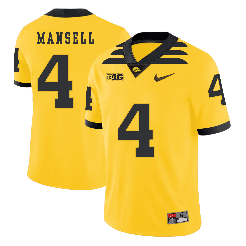 Iowa Hawkeyes 4 Peyton Mansell Yellow College Football Jersey