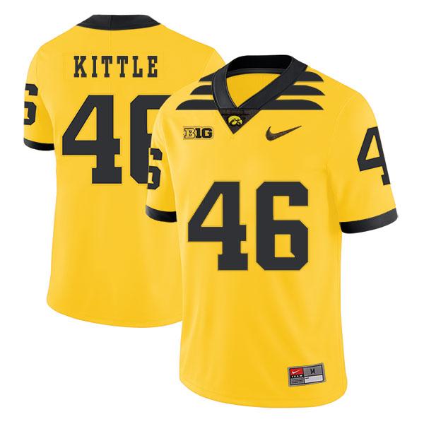 Iowa Hawkeyes 46 George Kittle Yellow College Football Jersey