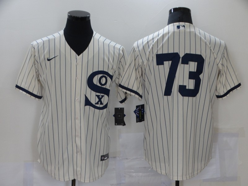 Men's Chicago White Sox #73 Yermin Mercedes 2021 Cream Field of Dreams Cool Base Stitched Nike Jersey