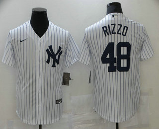 Men's New York Yankees #48 Anthony Rizzo White Stitched MLB Cool Base Nike Jersey