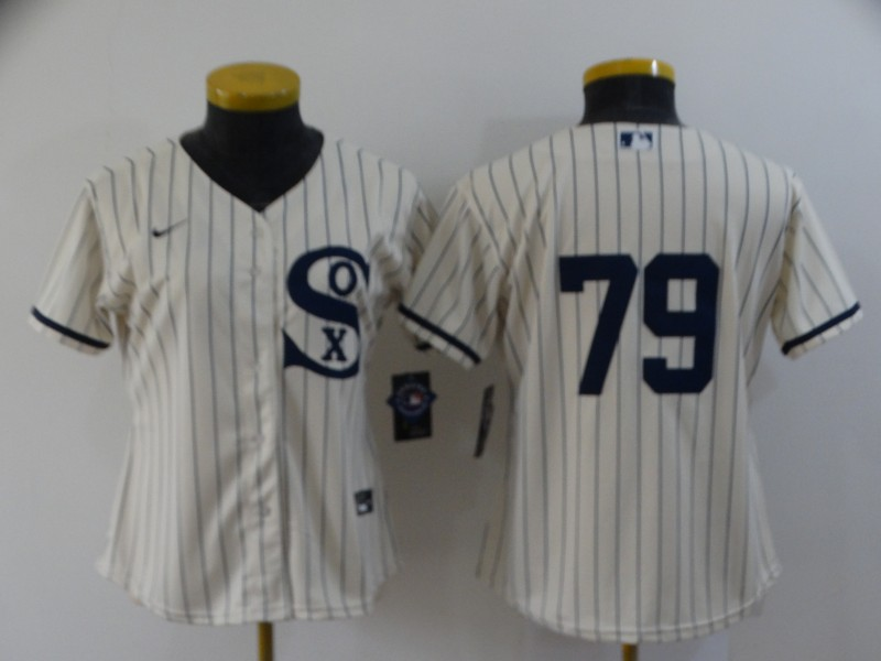 Women's Chicago White Sox #79 Jose Abreu 2021 Cream Field of Dreams Cool Base Stitched Nike Jersey