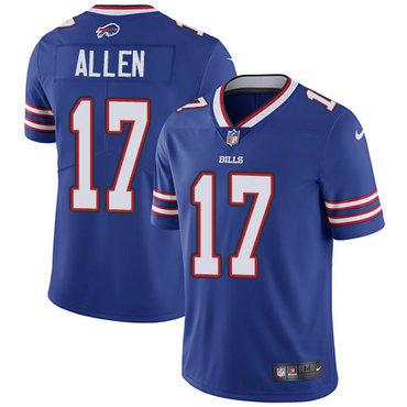 Men's Nike Bills #17 Josh Allen Royal Blue Team Color Stitched NFL Vapor Untouchable Limited Jersey