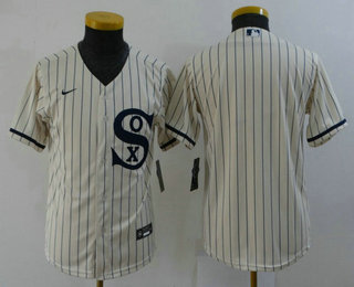 Youth Chicago White Sox Blank 2021 Cream Field of Dreams Cool Base Stitched Nike Jersey