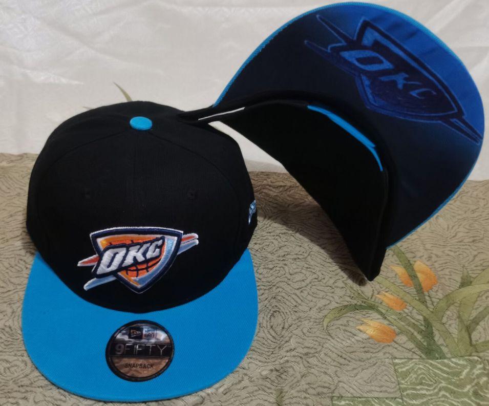 2021 NBA Oklahoma City Thunder Hat GSMY610