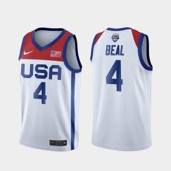 Men's USA Team Bradley Beal Home White 2021 Tokyo Olympics Jersey
