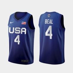 Men's USA Team Bradley Beal Away Blue 2021 Tokyo Olympics Jersey