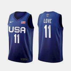 Men's USA Team Kevin Love Away Blue 2021 Tokyo Olympics Jersey