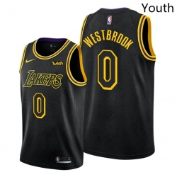 Youth Lakers Russell Westbrook 2021 trade black mamba inspired jersey