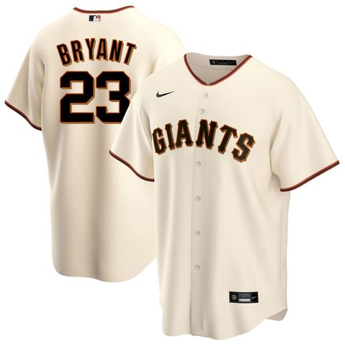 Men's San Francisco Giants #23 Kris Bryant Cream Cool Base Nike Jersey
