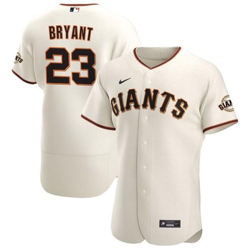 Men's San Francisco Giants #23 Kris Bryant Cream Flex Base Nike Jersey