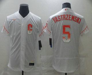 Men's San Francisco Giants #5 Mike Yastrzemski White 2021 City Connect Stitched MLB Flex Base Nike Jersey