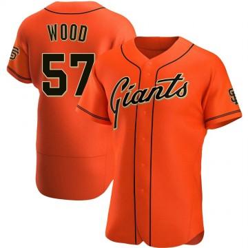 Men's San Francisco Giants #57 Alex Wood Orange Flex Base Nike Jersey