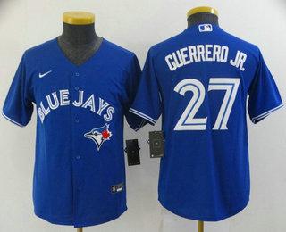 Youth Toronto Blue Jays #27 Vladimir Guerrero Jr Blue Stitched MLB Cool Base Nike Jersey