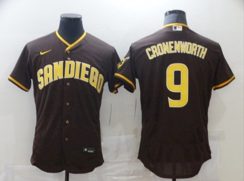 San Diego Padres 9 Jake Cronenworth Baseball Brown Jerseys