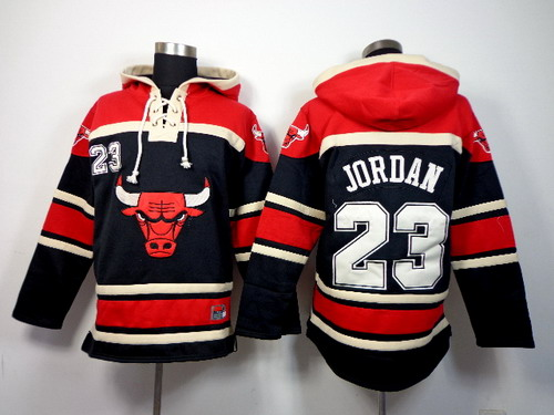 Chicago Bulls #23 Michael Jordan Black Hoodie
