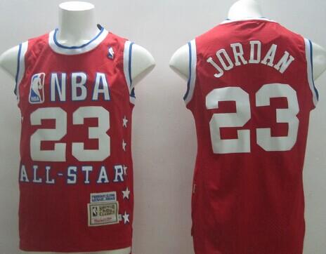 NBA 1989 All-Star #23 Michael Jordan Red Swingman Throwback Jersey