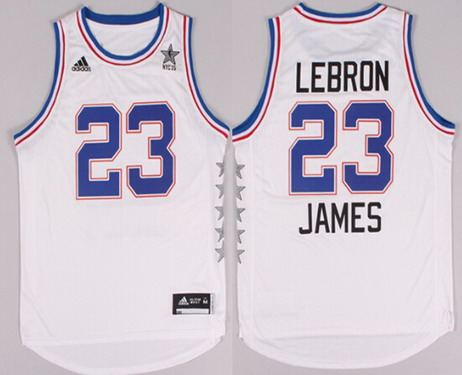 2015 NBA Eastern All-Stars #23 LeBron James Revolution 30 Swingman White Jersey