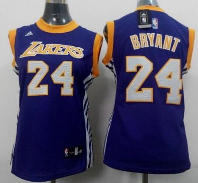 Los Angeles Lakers #24 Kobe Bryant 2014 New Purple Womens Jersey