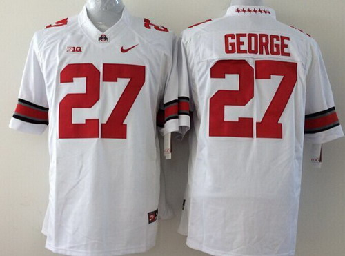 Ohio State Buckeyes #27 Eddie George 2014 White Limited Kids Jersey