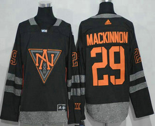 Men's North America Hockey #29 Nathan MacKinnon Black 2016 World Cup of Hockey Stitched adidas WCH Game Jersey