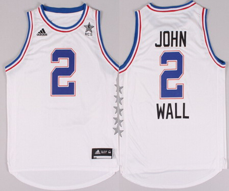 2015 NBA Eastern All-Stars #2 John Wall Revolution 30 Swingman White Jersey