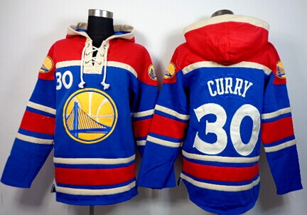 Golden State Warriors #30 Stephen Curry Blue Hoodie